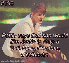 #BieberFacts ❤ thank you Pattie