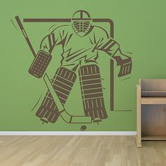 Ice #hockey goal keeper in goal #hockey wall #stickers stadium gym #sport art deca,  View more on the LINK: 	http://www.zeppy.io/product/gb/2/331951008064/
