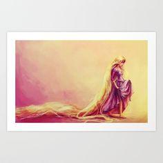 Rapunzel Art Print by Alice X. Zhang