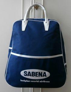 BNWOT Vintage 1970's Navy Blue & White Sabena Airlines Flight Bag  New and Unused Deadstock by SBDVintage on Etsy