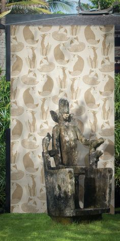Daydreaming by Teija Vartiainen — Shop Animal Wallpaper, Elle Decor, Designer Wallpaper, Daydream, Animals Beautiful, Lion Sculpture, Sketches, Wallpapers, Statue