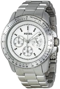 Fossil Men's CH2745 Stella Silver Dial Watch - Find Me The Cheapest