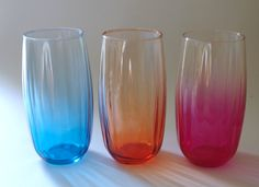 Vintage Colorful Crisa Glasses Set of of 3 by retrowarehouse