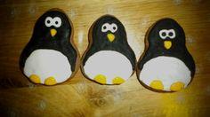 Nápad na vánoční perníčky, tučňáci