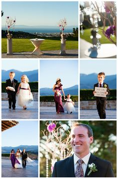 Tehama Golf Club: What a gorgeous setting for an outdoor ceremony • Tehama Golf Club Wedding • Carmel Valley Wedding • Here comes your girl • Ring Bearer & Flower-girl outfits