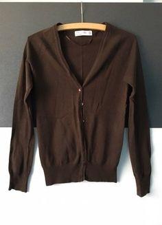 Kaufe meinen Artikel bei #Kleiderkreisel http://www.kleiderkreisel.de/damenmode/cardigans/143900038-brauner-cardigan-von-zara-in-s