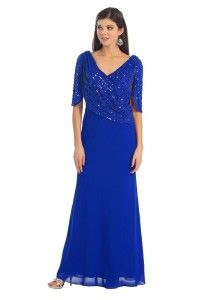 b4907e9cbf oyal blue plus size mother of the bride dresses with sleeves 1x