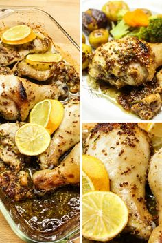 Greta Podleski's Honey Mustard & Herb Roasted Chicken recipe comes from her new Yum & Yummer cookbook and is a very impressive and flavourful dinner. Roast Chicken Dinner, Roast Chicken Recipes, Healthy Chicken, Healthy Meals, Healthy Recipes, Honey Mustard Chicken, Herb Roasted Chicken, Good Enough To Eat, Cookbook Recipes
