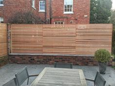 Contemporary cedar fence