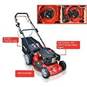 """Amazon.co.uk:Customer Reviews: Frisky Fox PLUS 20"""" 5.5hp Self Propelled Petrol Lawn Mower 4 in 1 Mulching, Cutting, Collecting & Side Discharge Powered By 5.5HP 4-Stoke OHV Engine with Fitted Lawn Striper and 55L Grass Collection Bag"""