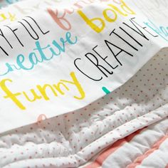 Early Edition Crib Fitted Sheet (Word)   The Land of Nod