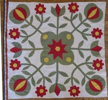 "1800s Applique Quilt Block 25""x25"" (6 blocks), Cow Hollow Collectibles, Ruby Lane"