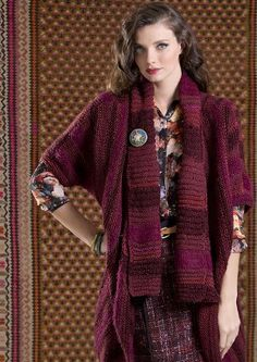 Bohemian Rose Cardigan   9 , 10 , Circular Knitting Needles Yarn Weight: (5) Bulky/Chunky szs tp 2X
