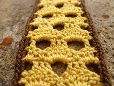 Yellow and Brown Crocheted Honeycomb by Ravy17CrochetDesign, $9.95