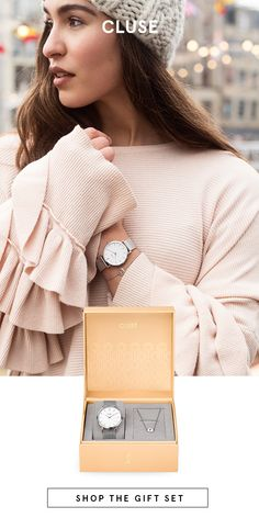 Our Minuit Heart Gift Box is a celebration of love in all its forms. A tweak on our Silver Minuit Mesh watch where the roman twelve has been replaced with a heart symbol. Contemporary clean-edged design in silver and eggshell white creates a beautiful minimalist timepiece.  Presented in an exclusive blush pink bijoux box, the watch and bracelet are gorgeous together and stunning on their own.