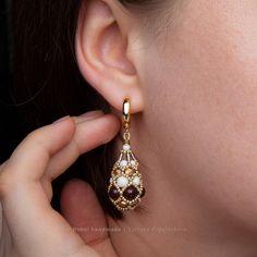 PRODUCTS :: JEWELRY :: WOMEN :: Earrings :: Earrings «Bordeaux Fabergé»