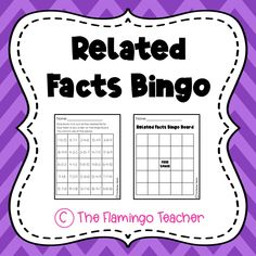 Little learners will have a blast learning fact families while playing bingo!