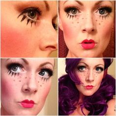 Doll Face makeup tips for Halloween!