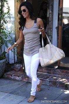 Eva Longoria leaving Ken Paves Salon in Los Angeles, California - August 2, 2012