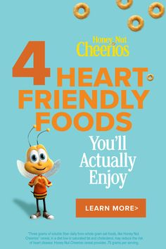 Just because you're eating for your heart doesn't mean you need to eat bland, boring foods. Here, a few better-for-your-heart bites that you'll love. Cheerios Cereal, Honey Nut Cheerios, Heart Bit, Happy Birthday Black, Weight Loss Juice, Baby Animals Super Cute, Things To Do When Bored, Oats Recipes, Classroom Crafts