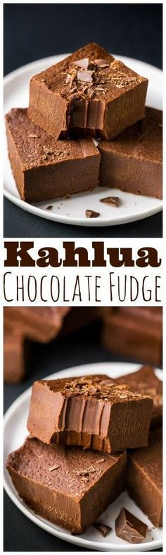 So YUMMY! Creamy Kahlua Chocolate Fudge made with just a few ingredients. Perfect for holiday gifts!