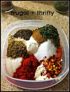 Frugal & Thrifty : Chili Seasoning