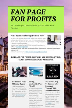 Help spread the word about FAN PAGE FOR PROFITS. Please share! :) Work From Home Business, Growing Your Business, Online Business, Make Money Online, How To Make Money, Build Your Brand, Fan Page, Press Release, Online Marketing