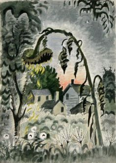 September Afterglow, Charles E. Burchfield (1949; watercolor on paper, 19 1/2 x 13 1/2 in.)