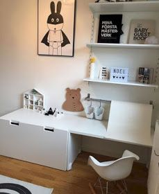 15 Inspiring Bathroom Design Ideas with IKEA - Kids Bedroom Inspiration and Ideas - Kinderzimmer Ikea Toy Storage, Storage Ideas, Bedroom Storage, Craft Storage, Record Storage, Storage Closets, Corner Storage, Nursery Storage, Paper Storage