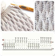 Watch This Video Beauteous Finished Make Crochet Look Like Knitting (the Waistcoat Stitch) Ideas. Amazing Make Crochet Look Like Knitting (the Waistcoat Stitch) Ideas. Crochet Stitches Chart, Crochet Diagram, Crochet Motif, Knitting Stitches, Crochet Hooks, Knitting Patterns, Crochet Patterns, Free Crochet, Basket Weave Crochet