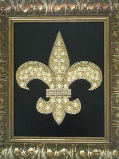 Jeweled Fleur De Lis Art by MissigirlDesigns on Etsy, $125.00
