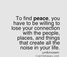 Finding peace...