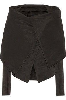 Gareth Pugh Cape-effect cotton-blend faille jacket | NET-A-PORTER