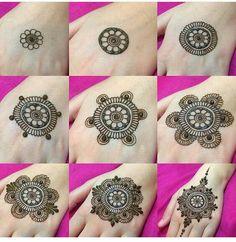 Henna Tattoo Hand, Henna Tattoos, Henna Tattoo Muster, Simple Henna Tattoo, Mehndi Simple, Hand Mehndi, Easy Henna, Easy Mehendi, Paisley Tattoos