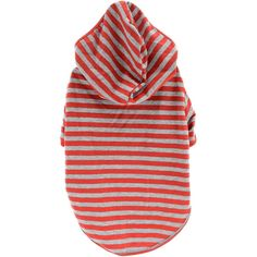 NEW! Stellar Pet Boutique Red Striped Hoodie-Medium - TPS Shopping Site