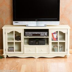 "SHABBY COTTAGE CHIC STYLE 52"" TV ENTERTAINMENT CABINET MEDIA CENTER STAND NEW"