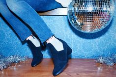 """bobby D. black chelsea style suede boot """"LAX"""" SHOES"""