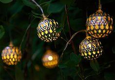 lantern lights solalux set of 12 moroccan solar string lanterns led garden fairy lights balls hearts and stars balls Led Fairy Lights, Solar String Lights, String Lights Outdoor, Outdoor Lighting, String Lanterns, Globe String Lights, Moroccan Garden, Garden Balls, Moroccan Lanterns