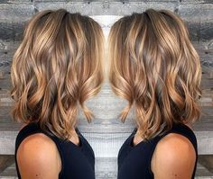 Summer Haircuts, Thin Hair Haircuts, Hairstyles Haircuts, Bob Haircuts, Brown Hair With Highlights And Lowlights, Brown Hair Balayage, Caramel Balayage, Caramel Highlights, Balayage Lob