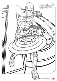 dibujos para colorear  Marvel y DC  Pinterest  Superheroes