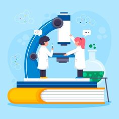 Science Fair, Science Education, Science Illustration, Flat Illustration, Blog Templates Free, Biology Art, Science Words, People Working Together, Science Background