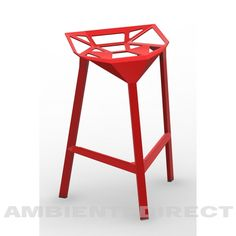 Stool One red