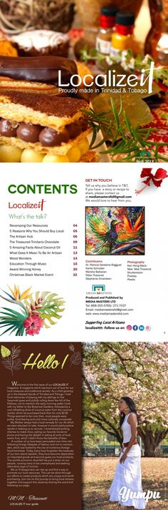 Localize it magazine - Magazine with 35 pages: Featuring local artisans and all things homemade in  Trinidad and Tobago.