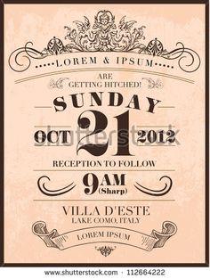 Invitation Designs Free Download Vintage Wedding Invitation Templates Free Download  Creative Of .