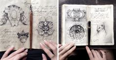 Russian Artist Reveals Her Mysterious Sketchbook To The World, And It's Full Of Visual Secrets | Bored Panda