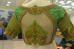 Latest Saree Blouse Back Designs for Modern Look - Fashion Cutwork Blouse Designs, Best Blouse Designs, Bridal Blouse Designs, Blouse Neck Designs, Blouse Patterns, Cut Work Blouse, Mehndi, Stylish Blouse Design, Lesage