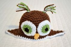 owl beanie, free pattern