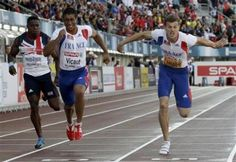 Christophe Lemaitre stormed to gold in the 100m final at the European athletics championships on Thursday in 10.09 seconds, a time he vowed to better at the London Olympics.