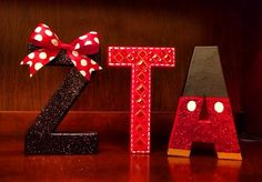 ✰ ZTA version of the adorable disney letters! ✰