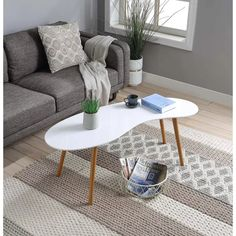 Space Saving Furniture, Furniture Decor, Living Room Furniture, Bamboo Furniture, Furniture Design, Bureau Design, Round Coffee Table, Modern Coffee Tables, Scandinavian Style Home